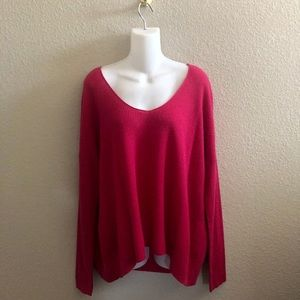 Eileen Fisher Organic Cotton V-Neck Knit Sweater